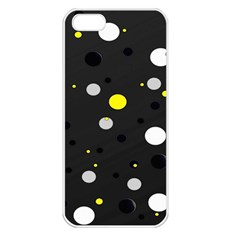 Decorative Dots Pattern Apple Iphone 5 Seamless Case (white) by ValentinaDesign