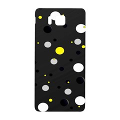 Decorative Dots Pattern Samsung Galaxy Alpha Hardshell Back Case by ValentinaDesign