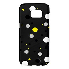 Decorative Dots Pattern Samsung Galaxy S7 Edge Hardshell Case by ValentinaDesign