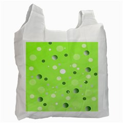 Decorative Dots Pattern Recycle Bag (one Side) by ValentinaDesign