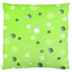 Decorative Dots Pattern Large Cushion Case (two Sides) by ValentinaDesign