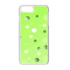 Decorative Dots Pattern Apple Iphone 7 Plus White Seamless Case by ValentinaDesign