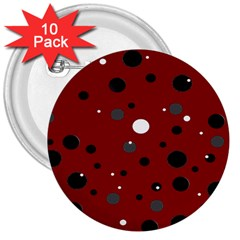 Decorative Dots Pattern 3  Buttons (10 Pack)  by ValentinaDesign