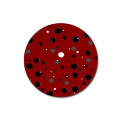 Decorative Dots Pattern Magnet 3  (round) by ValentinaDesign