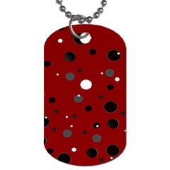 Decorative Dots Pattern Dog Tag (one Side) by ValentinaDesign