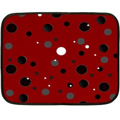 Decorative Dots Pattern Double Sided Fleece Blanket (mini)  by ValentinaDesign