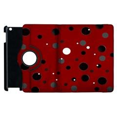 Decorative Dots Pattern Apple Ipad 3/4 Flip 360 Case by ValentinaDesign