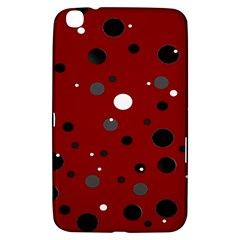 Decorative Dots Pattern Samsung Galaxy Tab 3 (8 ) T3100 Hardshell Case  by ValentinaDesign