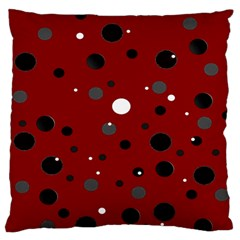 Decorative Dots Pattern Large Flano Cushion Case (one Side) by ValentinaDesign