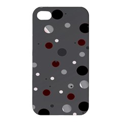 Decorative Dots Pattern Apple Iphone 4/4s Premium Hardshell Case by ValentinaDesign