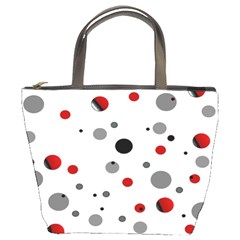 Decorative Dots Pattern Bucket Bags by ValentinaDesign