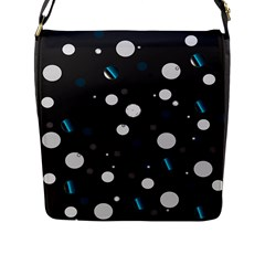 Decorative Dots Pattern Flap Messenger Bag (l)  by ValentinaDesign