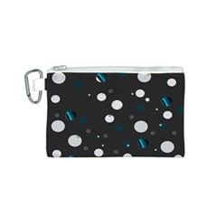 Decorative Dots Pattern Canvas Cosmetic Bag (s) by ValentinaDesign