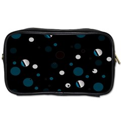 Decorative Dots Pattern Toiletries Bags 2 Side by ValentinaDesign