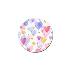 Watercolor Cute Hearts Background Golf Ball Marker (4 Pack) by TastefulDesigns