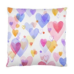 Watercolor Cute Hearts Background Standard Cushion Case (two Sides) by TastefulDesigns