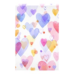 Watercolor Cute Hearts Background Shower Curtain 48  X 72  (small)  by TastefulDesigns