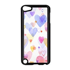 Watercolor Cute Hearts Background Apple Ipod Touch 5 Case (black) by TastefulDesigns