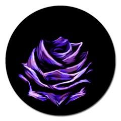 Rose Flower Design Nature Blossom Magnet 5  (round)