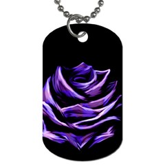 Rose Flower Design Nature Blossom Dog Tag (two Sides) by Nexatart