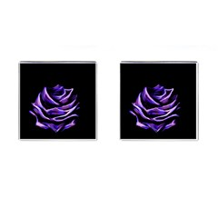 Rose Flower Design Nature Blossom Cufflinks (square) by Nexatart