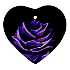 Rose Flower Design Nature Blossom Heart Ornament (two Sides) by Nexatart