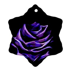 Rose Flower Design Nature Blossom Snowflake Ornament (two Sides)