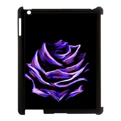 Rose Flower Design Nature Blossom Apple Ipad 3/4 Case (black) by Nexatart
