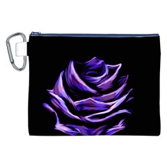 Rose Flower Design Nature Blossom Canvas Cosmetic Bag (xxl) by Nexatart