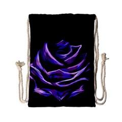 Rose Flower Design Nature Blossom Drawstring Bag (small) by Nexatart