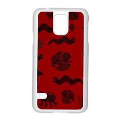 Aztecs Pattern Samsung Galaxy S5 Case (white) by ValentinaDesign