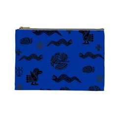 Aztecs Pattern Cosmetic Bag (large)  by ValentinaDesign