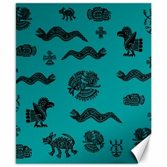 Aztecs Pattern Canvas 8  X 10  by ValentinaDesign