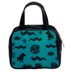 Aztecs Pattern Classic Handbags (2 Sides) by ValentinaDesign