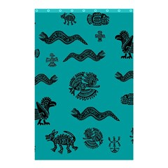 Aztecs Pattern Shower Curtain 48  X 72  (small)  by ValentinaDesign