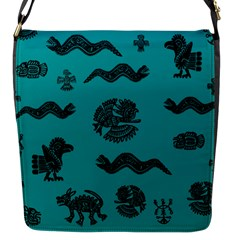 Aztecs Pattern Flap Messenger Bag (s) by ValentinaDesign