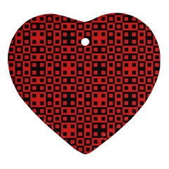 Abstract Background Red Black Ornament (heart) by Nexatart