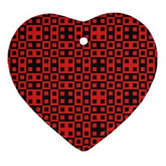 Abstract Background Red Black Heart Ornament (two Sides) by Nexatart