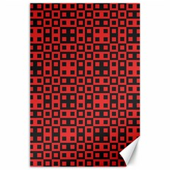 Abstract Background Red Black Canvas 24  X 36  by Nexatart