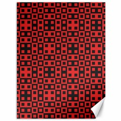 Abstract Background Red Black Canvas 36  X 48   by Nexatart