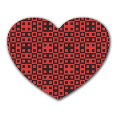 Abstract Background Red Black Heart Mousepads