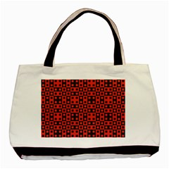 Abstract Background Red Black Basic Tote Bag (two Sides) by Nexatart