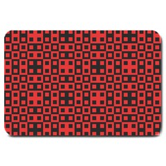 Abstract Background Red Black Large Doormat