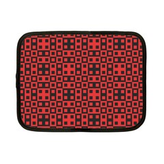 Abstract Background Red Black Netbook Case (small)  by Nexatart