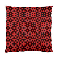 Abstract Background Red Black Standard Cushion Case (one Side) by Nexatart