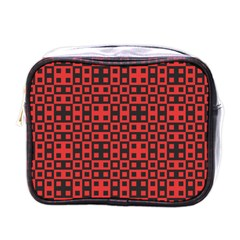 Abstract Background Red Black Mini Toiletries Bags by Nexatart