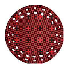 Abstract Background Red Black Ornament (round Filigree) by Nexatart