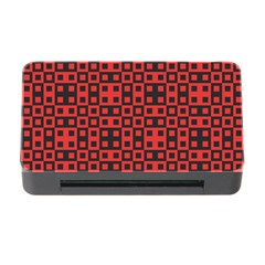 Abstract Background Red Black Memory Card Reader With Cf by Nexatart