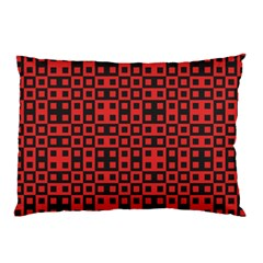 Abstract Background Red Black Pillow Case (two Sides) by Nexatart