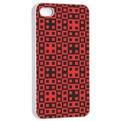 Abstract Background Red Black Apple Iphone 4/4s Seamless Case (white) by Nexatart
